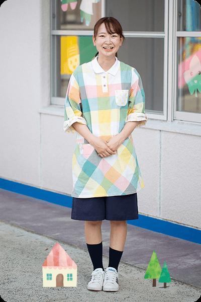 一木 小梅先生 勤続3年目 ピーチクラス(3歳児クラス)